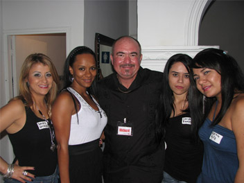 Our client with the beautiful girls in Medellin